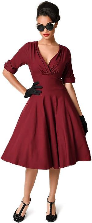 613cf31fd4 Burgundy Red Delores Swing Dress