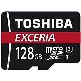 Toshiba Scheda di Memoria microSDXC 128GB - Exceria - 90MB/s - Classe 10 - UHS-I - U3 + Adattatore