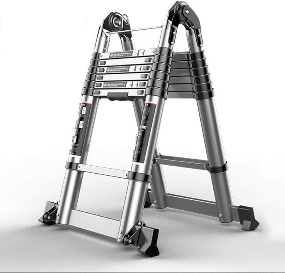 DD Escalera Telescópica, Escalera Casa, Doble La Escalera Tijera, Escalera Elevadora Multifunción Aleación Aluminio, Escalera Ingenieria (Tamaño : Multi-function ladder 2.4+2.4m): Amazon.es: Bricolaje y herramientas