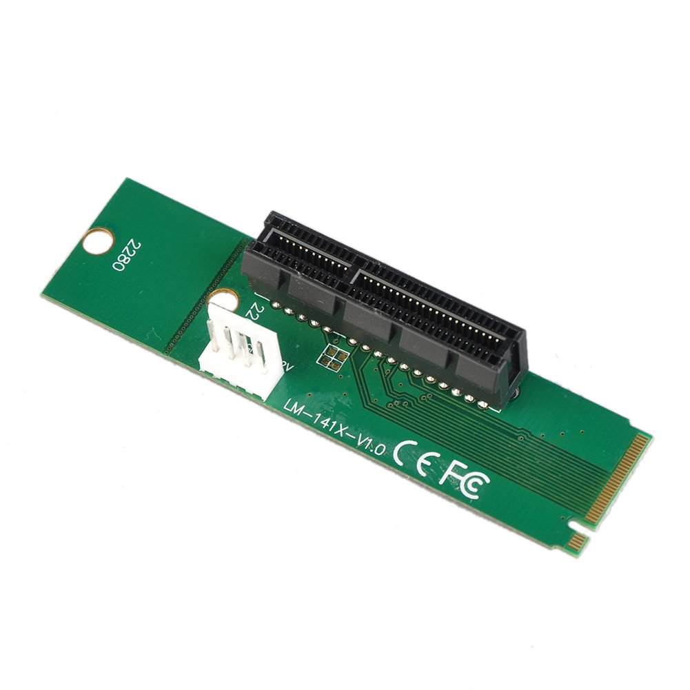 Occitop M.2 NGFF SSD Male to PCI-e Express 4X Female Converter Adapter Card (1pc)