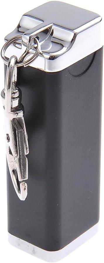 Imagen deMini cenicero/Cenicero de Bolsillo/Cenicero para Viajar, Hecho de aleación de cinc, con un mosquetón y de Color Negro, 020-04