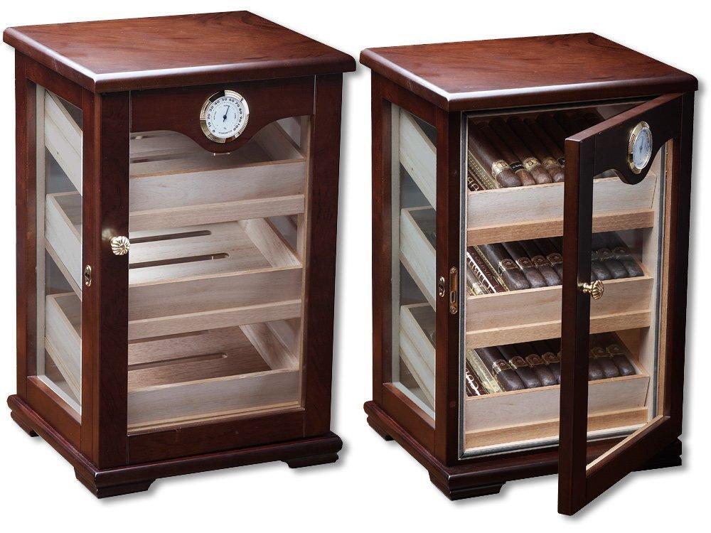 The Illuminati - Cigar Display Humidor - Spanish Cedar Interior - Holds 120 Cigars (13'' x 11.5'' x 18.3''))