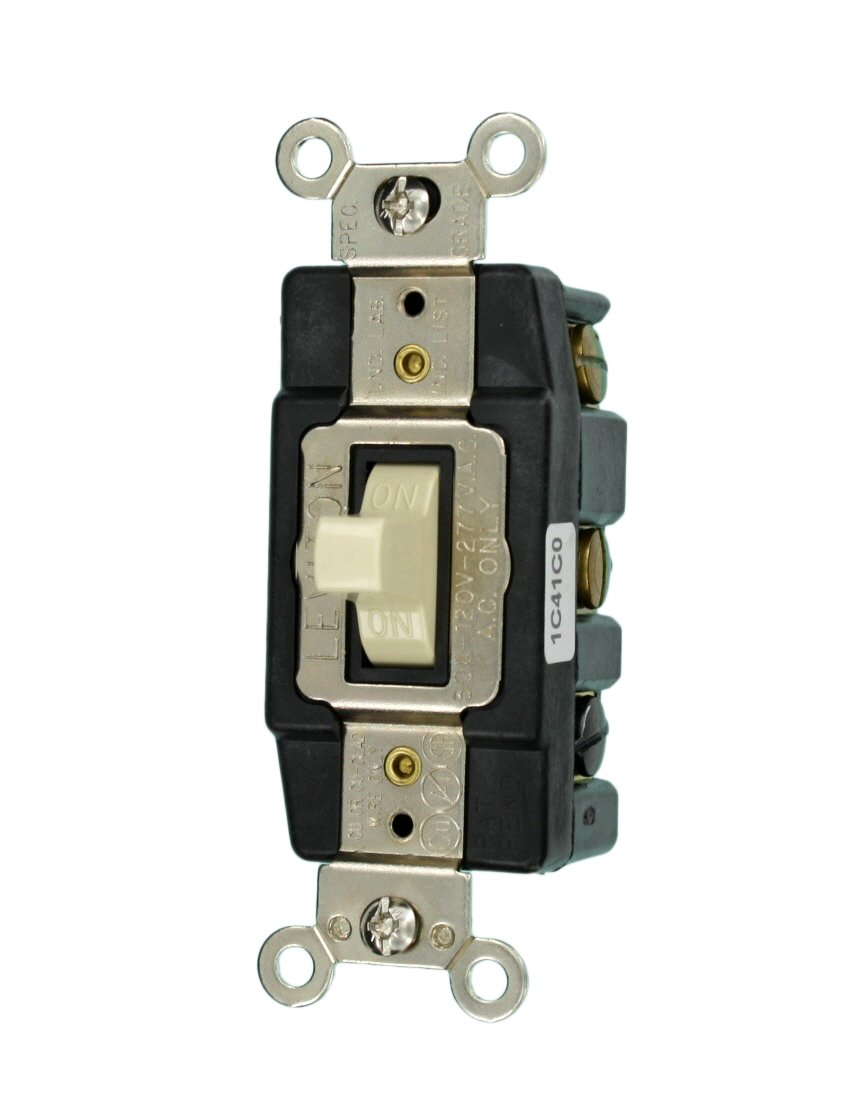 Leviton 1288 30 Amp 120 Volt Toggle Double Pole Ac Quiet Switch Dpdt Wiring Diagram 110 Volts Brown Wall Light Switches