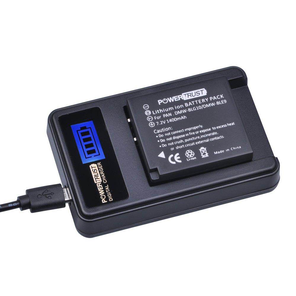 2 X Dmw-Blg10 Blg10 Batería Cargador para Panasonic DMC Gf6 Gx7 Gf3 Gf5 Gx80