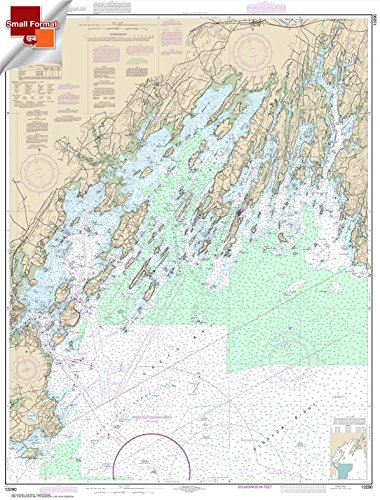 Paradise Cay Publications NOAA Chart 13290: Casco Bay 21.00 x 27.63 (SMALL FORMAT WATERPROOF)