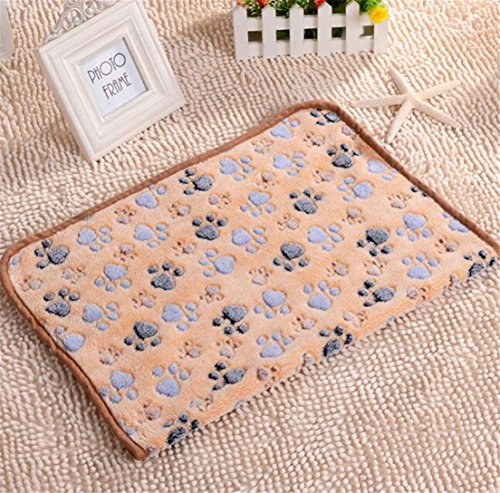 (Heyuni.1pc Pet Dog Blanket Fleece Fabric Puppy Cat Soft Blankets Bed Mat Cover for Puppies Kitties and Other Small Animals,6040CM)