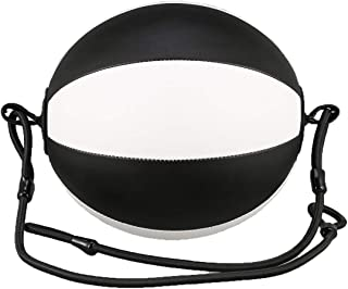 Vige Ballon de Boxe Speed Ball Professional en Cuir PU Souple Équipement de Boxe BodyBuelling Fitness Ballons de Boxe SpeedBalls - Noir & Blanc