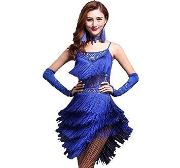 YZLL Vestido De Baile Latino para Mujer, Traje De Baile 3pcs ...