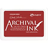 Ranger Archival Ink Pads Designer Series - Red Geranium