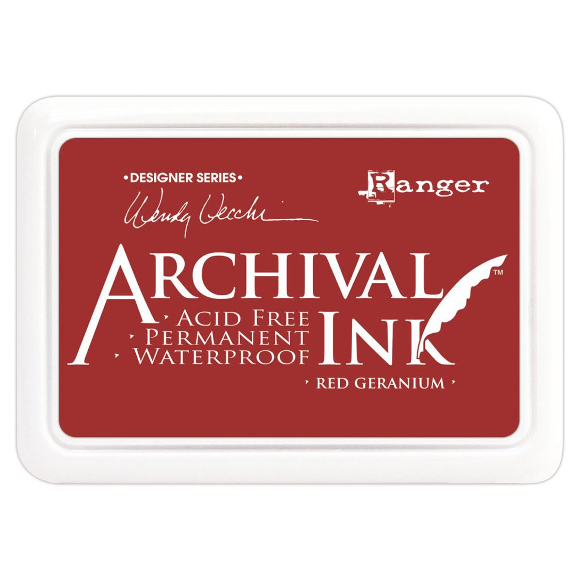 Ranger Geranium Archival Ink, Red Luscombe G T Luscombe AID-38993 Coloring and Design Books