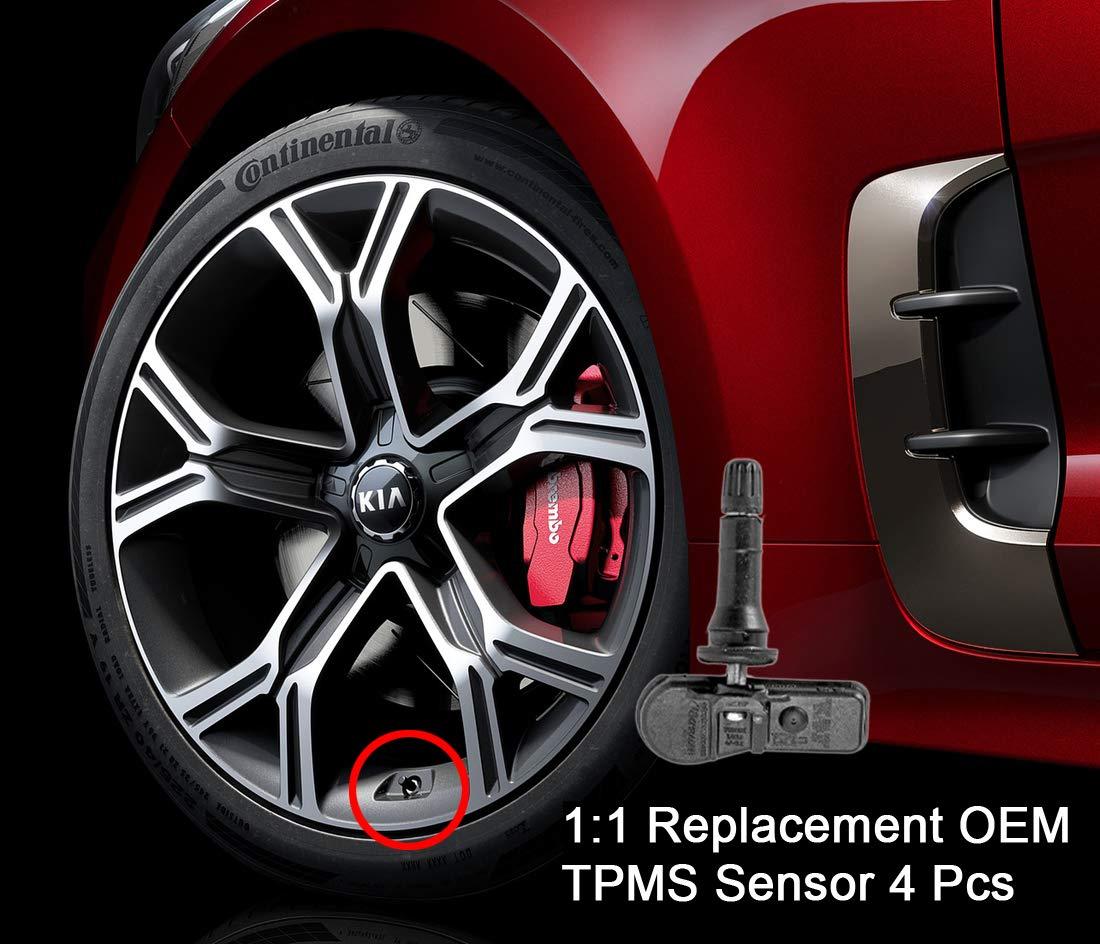 Kia Stinger Genuine OEM 52933J5000 TPMS Sensor Valve 17-18 (4 Pcs Set) Kia / Hyundai Mobis