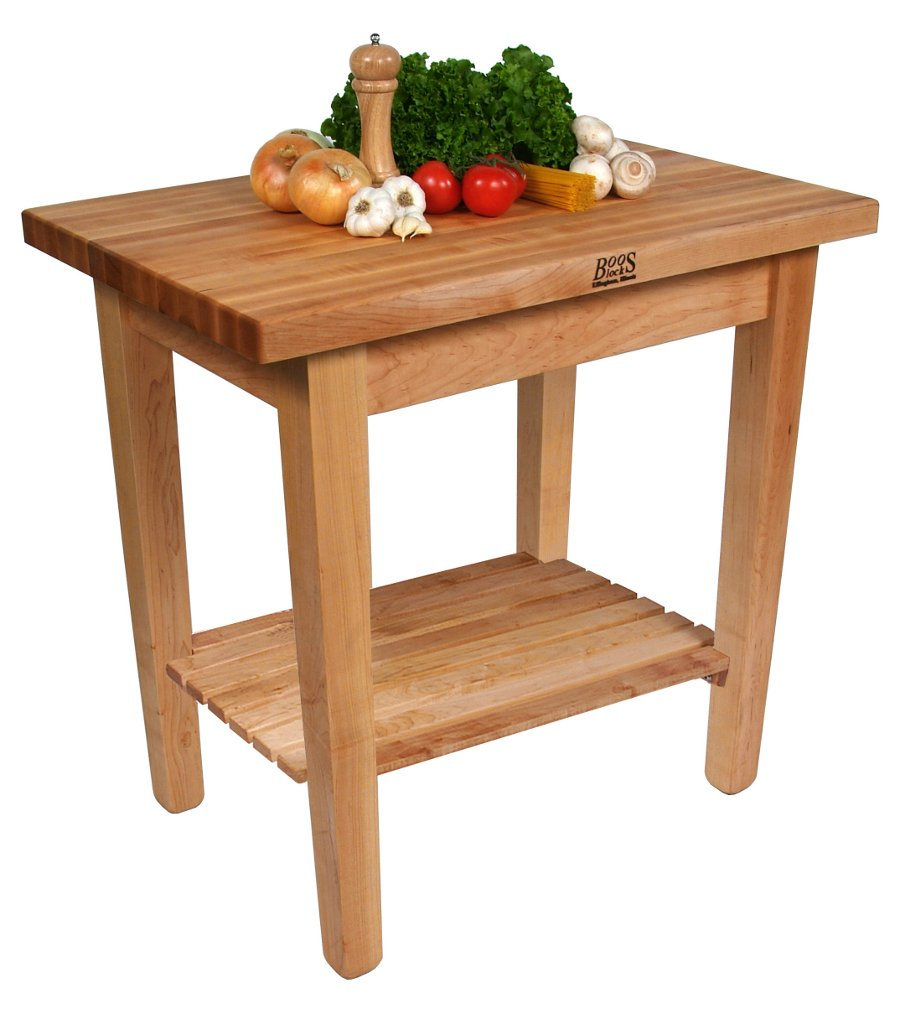 John Boos Country Work Table 48 x 36 x 35 - No Shelf - Maple by John Boos (Image #2)