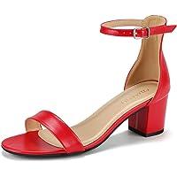 Padgene Sandalias Mujer Verano Zapatos de Tacón Grueso