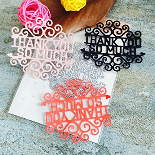 2019 Zing Metal Die Cutting Dies Handmade Stencils Template Embossing for Card Scrapbooking Craft Paper Decor by E-Scenery (N)