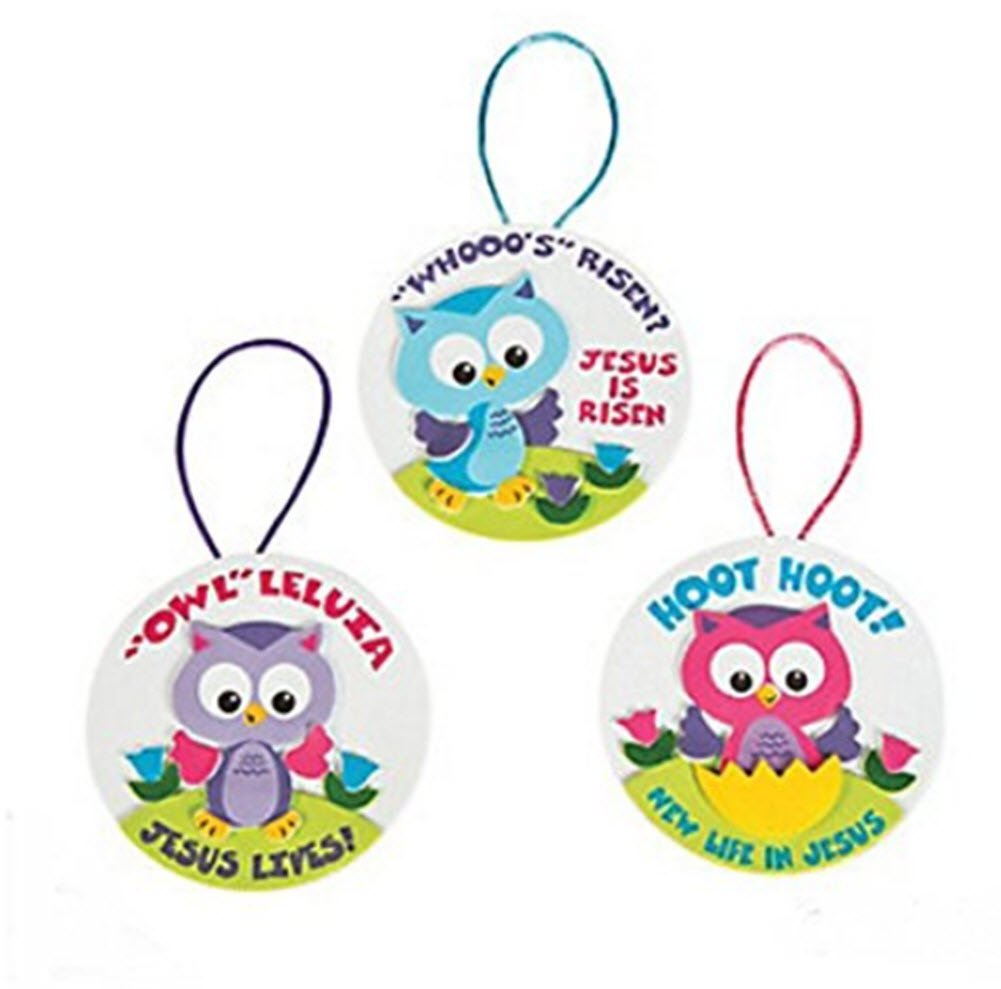 Makes 24 LauraBel Gifts Easter Owl Owl Leluia Ornament Craft Kit FX