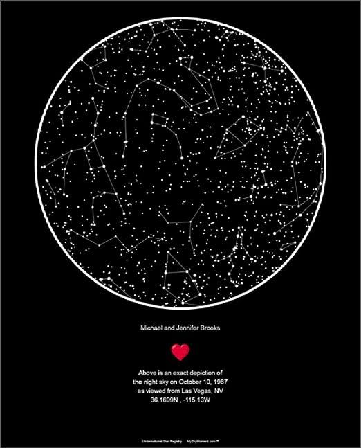 Night Sky Star Map Amazon.com: Star Registry My Sky Moment Map of The Night Sky