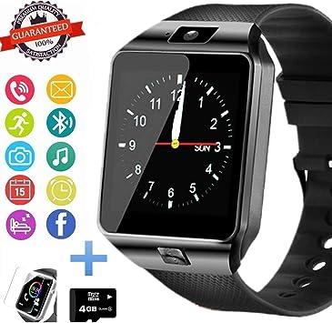 Reloj inteligente Bluetooth con ranura para tarjeta SIM, podómetro ...