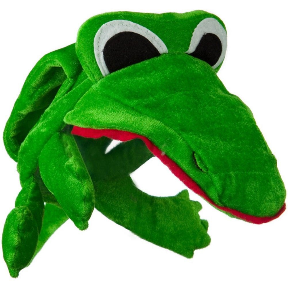 amazon com green alligator crocodile costume hat toys u0026 games