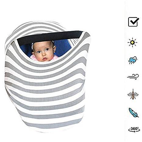 4 en 1 Infant bebé asiento de coche, carrito de la compra, color gris