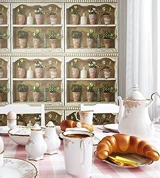 Vlies-Tapete Blumen-Landhaus-Optik | schönes Regal-Design und purer  Romantik-Effekt | schöne 3D Optik für Wohnzimmer,Schlafzimmer,Flur oder  Küche ...