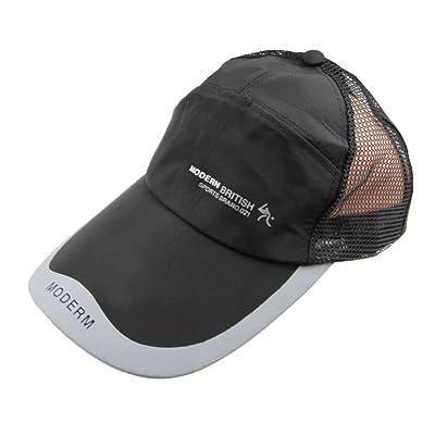 Bao Core Homme Chapeau de Base-ball Grille Cap d'été Chapeau de Soleil Anti-UV Hat à Large Bord Doux Respirant Casquette de Plage Réglable Multi-Fonctionnel Randonné Riding Pêche Print