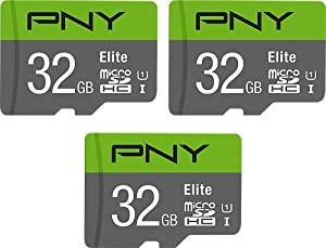 PNY 32GB Elite Class 10 U1 microSDHC Flash Memory Card 3-Pack, 32GB 3-Pack