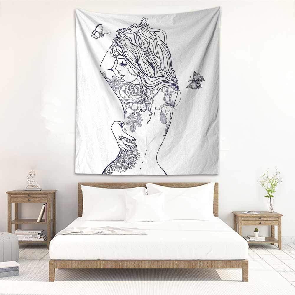 Godves Tapiz de Pared para Dormitorio, Tatuaje, Paisaje japonés de ...