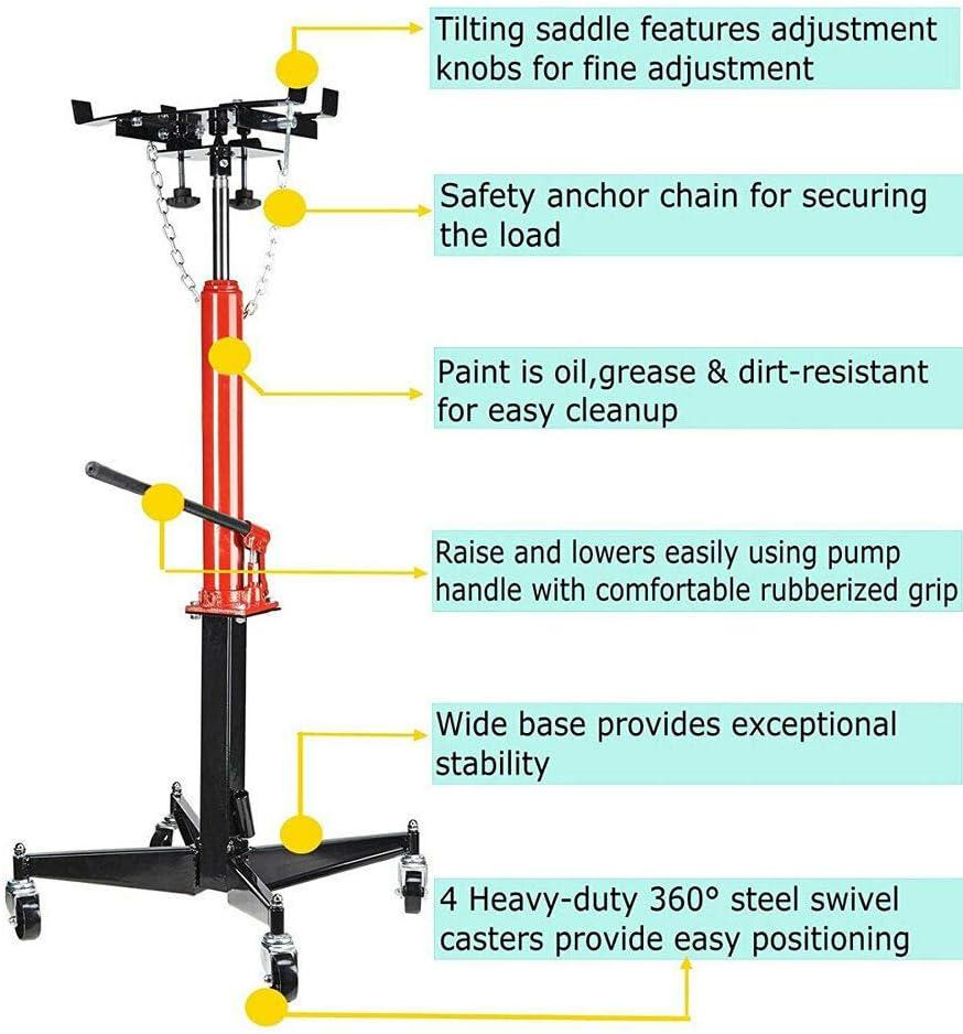 TRIL GEAR 1100 LB Manual Hydraulic Transmission Jack w// 360/° Swivel Wheels Lift Hoist
