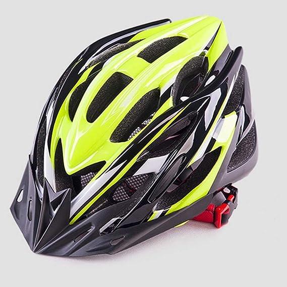 ZXASDC Casco Bicicleta, 58~62cm Casco Ajustable Luz Trasera ...
