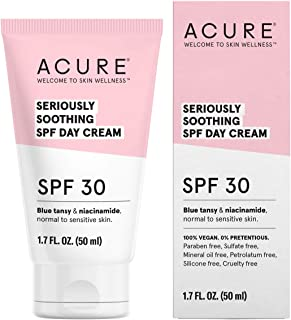 product image for ACURE Seriously Soothing SPF 30 Day Cream | 100% Vegan | For Dry to Sensitive Skin | Blue tansy & Niacinamide - Soothes & Provides Sunscreen | 1.7 Fl Oz
