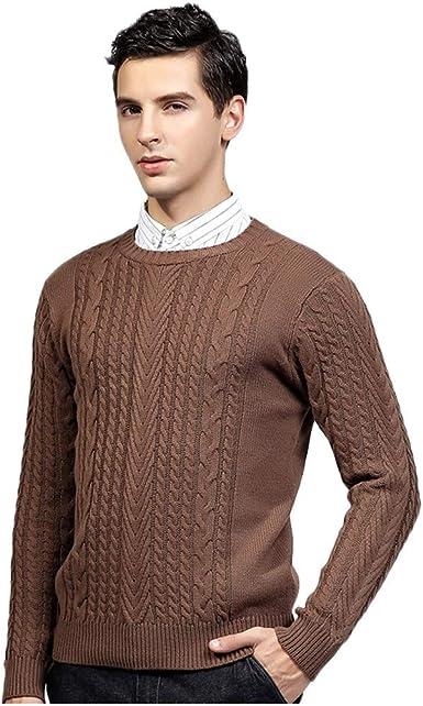 : Coersd Mens Sweaters Slim Fit Pullover Fall