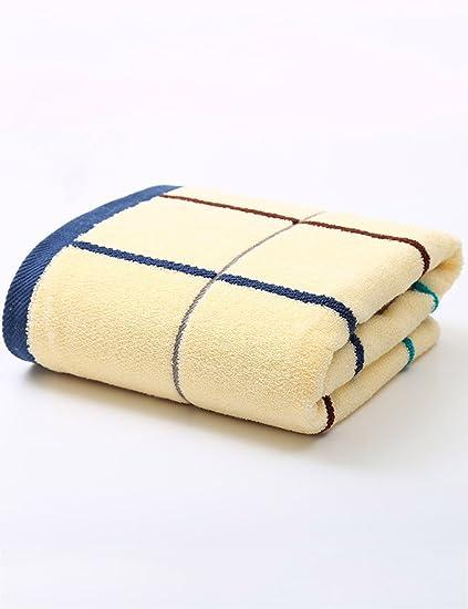 Toalla de algodón Simple Absorbente Toallas Suaves Grandes Hombres y Mujeres más Gruesos para Aumentar la