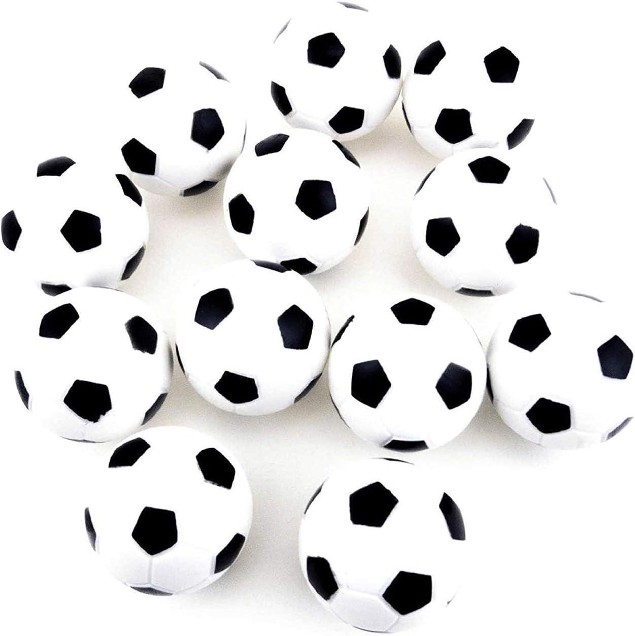 MINGZE 12 Piezas de fútbol de Mesa, Bolas de Repuesto para futbolín, Bolas de reemplazo de futbolín de Mesa de 36 mm, Juego de Bolas de fútbol de Mesa Blanco y Negro