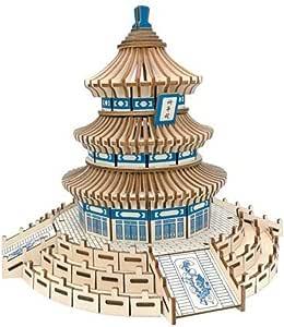 Longxiesheng Puzzle tridimensional de madera 3 Diy para
