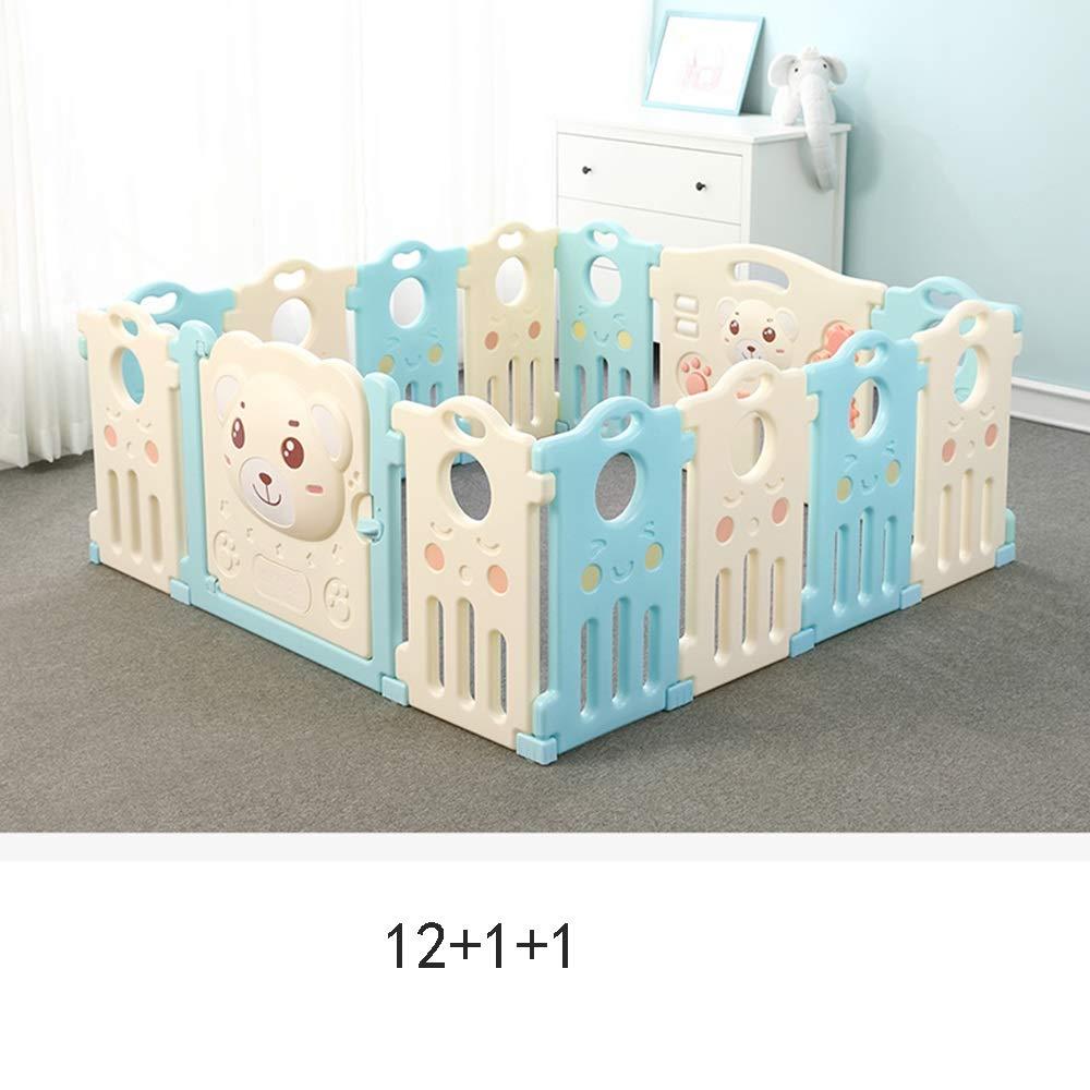 HUO 赤ちゃんフェンス屋内セーフクロール幼児フェンス子供の遊びフェンスホーム赤ちゃんフェンスサイズオプション 省スペース (サイズ さいず : 12+2) 12+2  B07J5C6JGB
