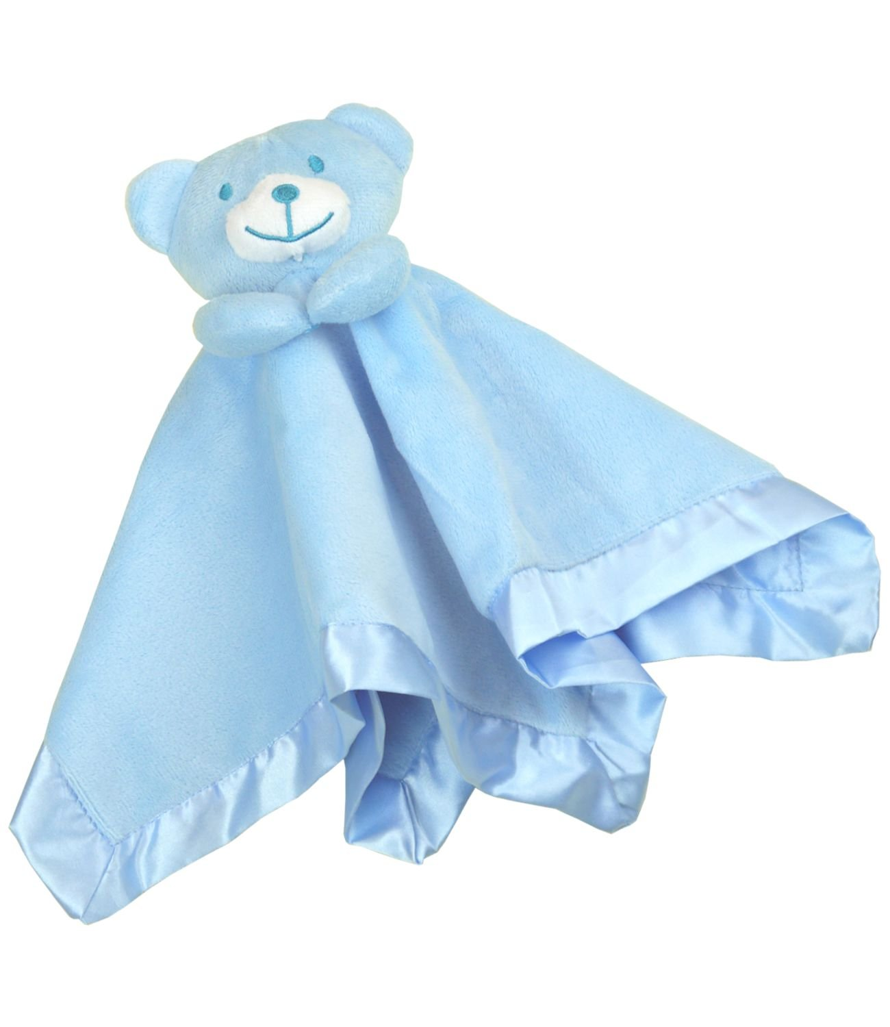 Gorgeous Blue Boys Supersoft Plush Velour Teddy Bear Baby Comforter//Blanket