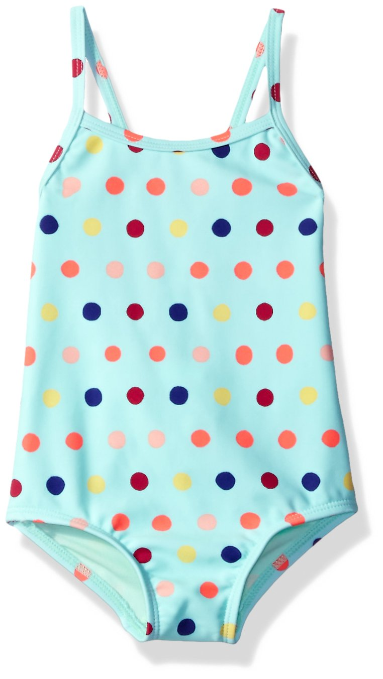 Roxy Little Girls' Rainbow Dots One Piece Swimsuit, Beach Glass Toudou Dots, 2 by Roxy