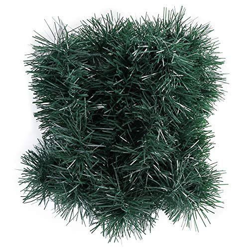 Owlike 50ft Christmas Green Garland Party Hanging Garland Ornaments Artificial Xmas Tree Decoration