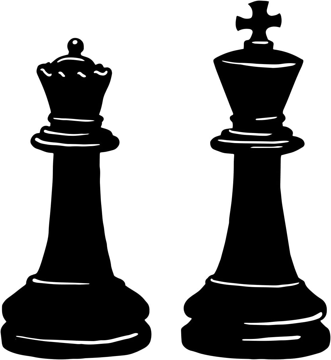 Stickerbrand King and Queen Chess Re New mail order Decal Wall Pieces OS_MB666A Spasm price
