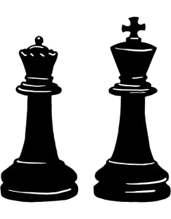 Amazon Com Imprinted Designs King And Queen Chess Set Wall Decal