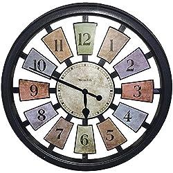 Westclox Quartz Wall Clock 18 Multicolored Quartz Movement Glass
