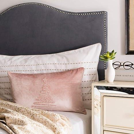 Amazon Com Safavieh Enchanted Evergreen Throw Pillow 1 X 1 8 Peach Home Kitchen