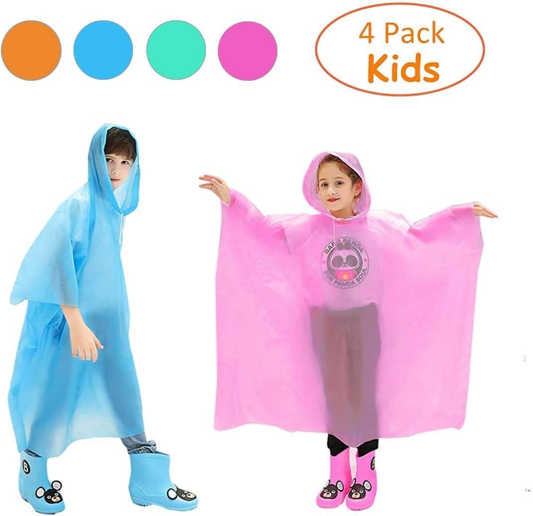 Black Adult Disposable Waterproof Rain Poncho Mac for Theme Parks Festivals