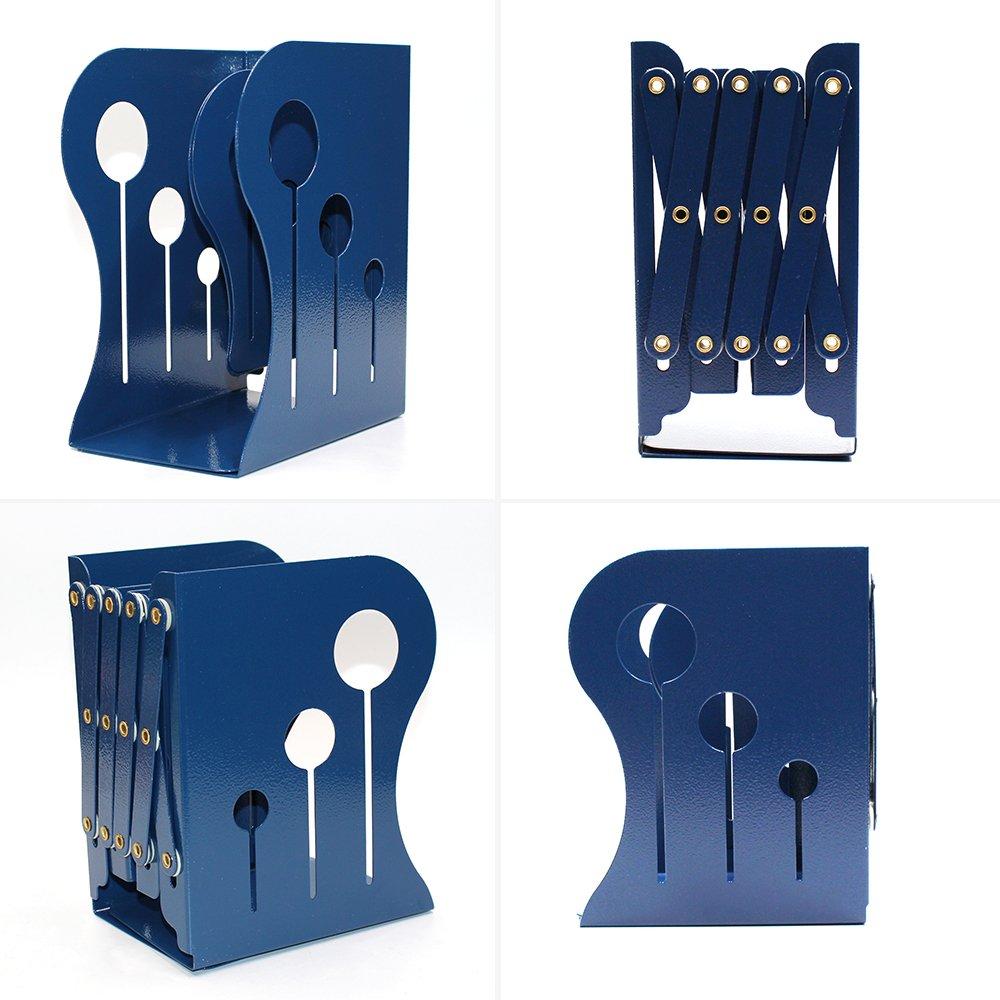 Lenhar Reggilibri decorativi allungabili per ufficio antiscivolo formato grande Blue