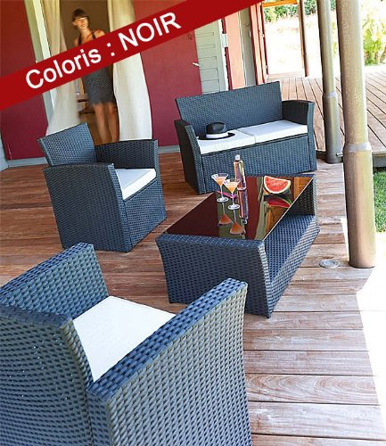 Salon de jardin Hespéride BORA BORA: Amazon.fr: Cuisine & Maison