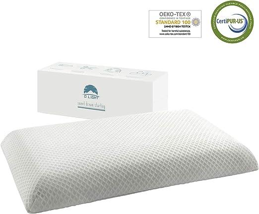 Thin Sleeper Memory Foam Pillow for Side Sleepers Ultra Slim Free Shipping!