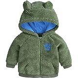 Toddler Baby Girls Boys Fleece Hoodie Jacket Coat Winter Warm Cute Bear Cardigan