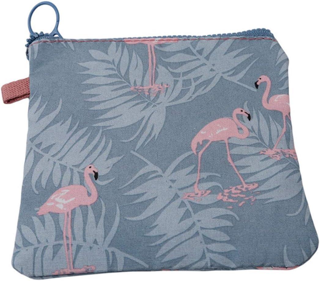 Botreelife Femmes Fille Portable Zipper Sanitaire Coussin Sac /Étanche Serviette Hygi/énique Organisateur Titulaire Maquillage Pi/èce Pochette Petit Sacs De Commodit/é Bleu Flamingo