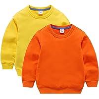 DQCUTE Sudadera con Cuello Redondo para Niños Bebés Camiseta Deportiva de Algodón con Manga Larga Casuales Pullover Tops…