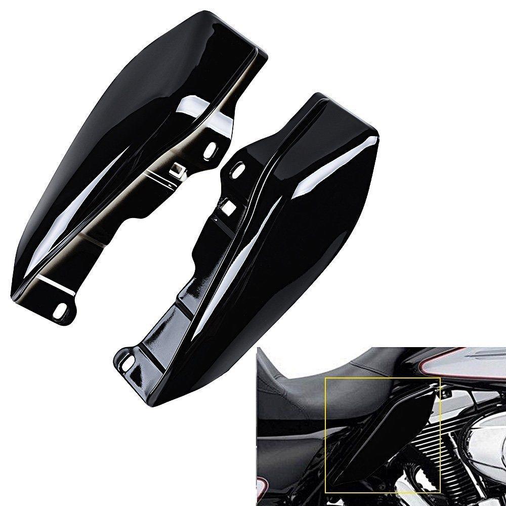 triclicks Noir Revê tement entlü ftet Deflector Trim pour 2009– 2016 Harley Street Glide Tri Electra Road King